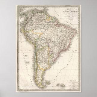 L'Amerique Meridionale - South America Poster