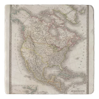 L'Amerique Septentrionale - North America Trivet
