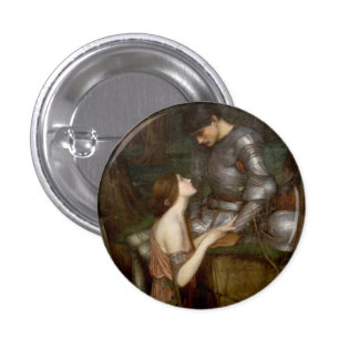 Lamia by John William Waterhouse 1 Inch Round Button