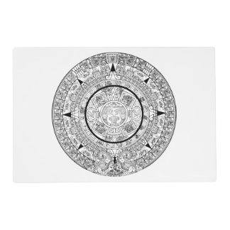 Laminated Placemat With Aztec Calendar
