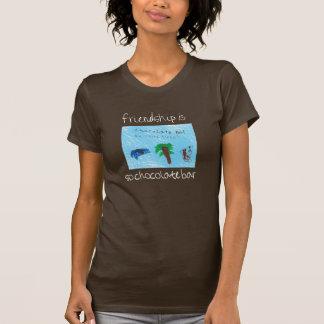 L'amitié est ainsi pièce en t de barre de chocolat t-shirt