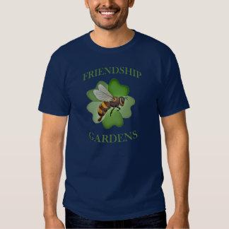 L'amitié fait du jardinage bleu de tshirt