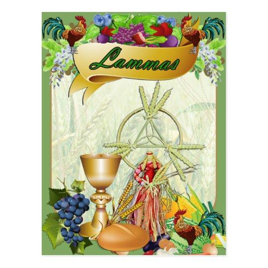 Lammas Lughnasadh  Pagan Fantasy Art Postcard