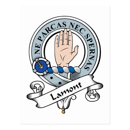Lamont Clan Badge Postcard