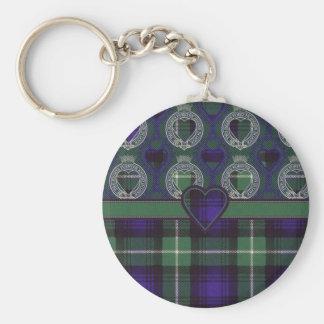 Lamont Scottish tartan Basic Round Button Keychain