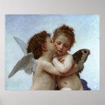 L'Amour de Bouguereau et psyché, enfants (cupidon) Poster