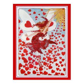 L'amour de expédition féerique et les coeurs de Va Cartes Postales
