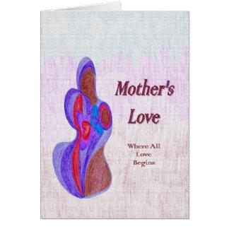 L'amour de mère carte de correspondance