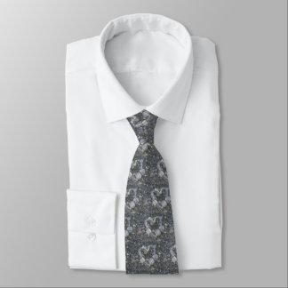 L'amour de roche de coeur de Valentine est des Cravate