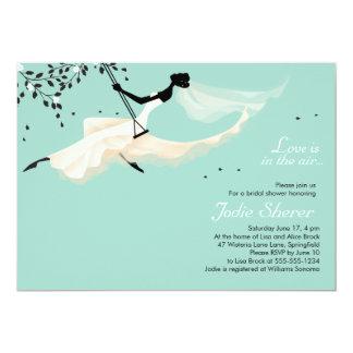 L'amour est dans le ciel - invitation nuptiale de carton d'invitation  12,7 cm x 17,78 cm