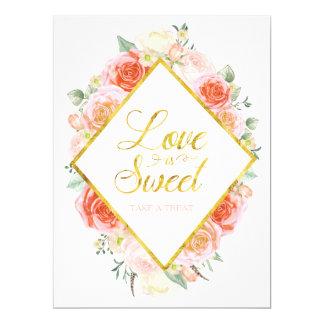 L'amour est doux prennent un signe de festin - carton d'invitation  16,51 cm x 22,22 cm