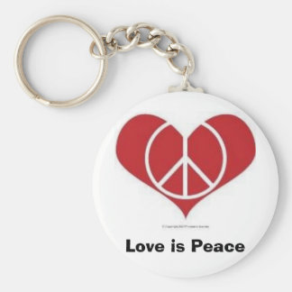 L'amour est paix !  Porte - clé Porte-clé Rond