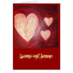 l'amour est rouge, un bon nombre d'amour cartes de vœux