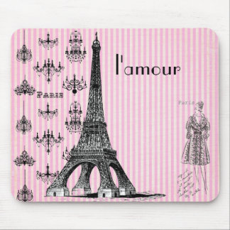 l'amour Paris Mouse Pad, love Paris mouse pad