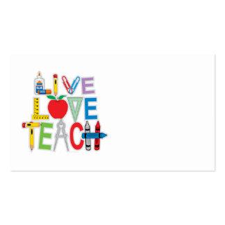L'amour vivant enseignent cartes de visite personnelles
