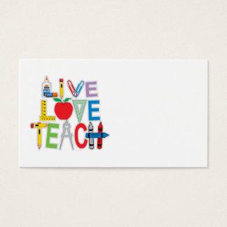 L'amour vivant enseignent cartes de visite