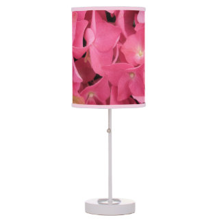 Lamp - Accent - Dark Pink Hydrangeas