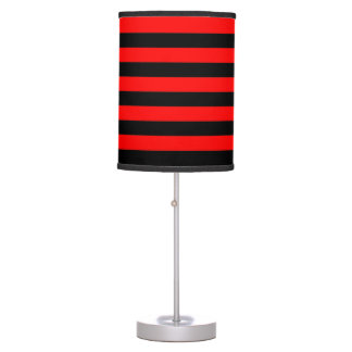 Lamp and Shade - Red and Black