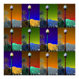 Lamp at Tenderfoot Hill Poster