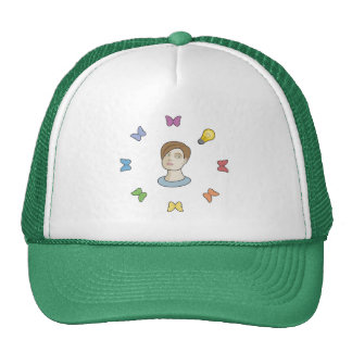 Lamp Bulb Idea Girl Trucker Hat