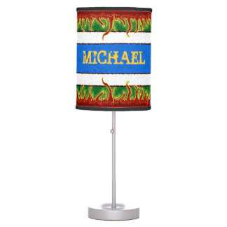 LAMP - FLAMES - BLUE/GREEN/RED/WHITE TABLE LAMP