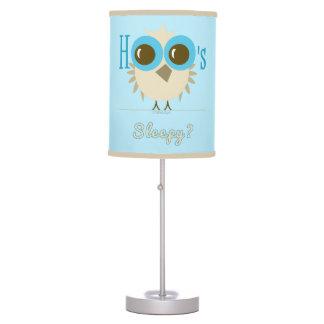 Lamp for Baby/Kids Bedroom Owl Hoo's Sleepy Blue