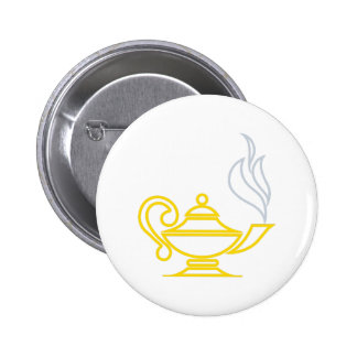 Lamp of Knowledge 2 Inch Round Button