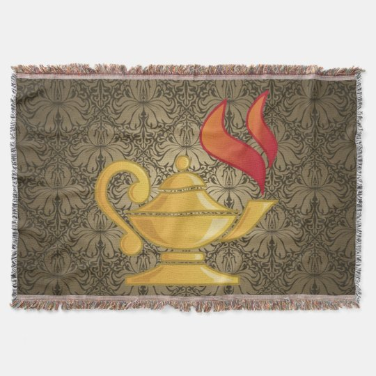 LAMP OF KNOWLEDGE THROW BLANKET