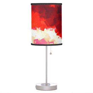 Lamp Shade in Hot Red Cubes