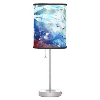 Lamp Shade in red, white and blue