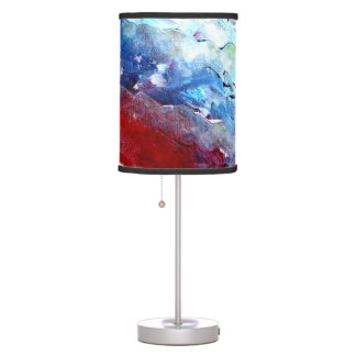 Lamp Shade in red, white, green and blue