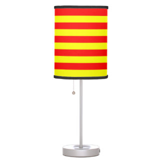 Lamp & shade - Red & Yellow Horizontal Stripes