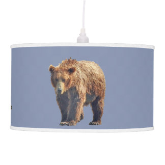 Lamp shade w/  grizzly bear cubs
