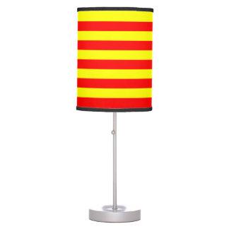 Lamp & shade - Yellow & Red Horizontal Stripes