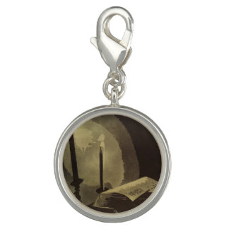 """""""Lamp"""" Sterling Silver Charm"""
