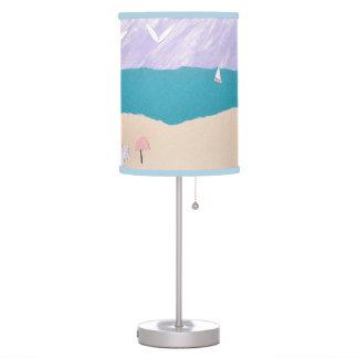 Lamp with Beach Scene