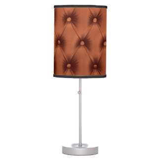 Lamp with brown capitone
