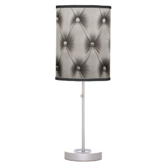 Lamp with grey capitone