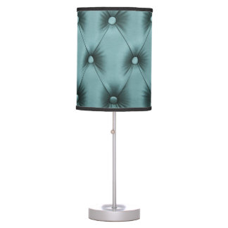 Lamp with teal capitone