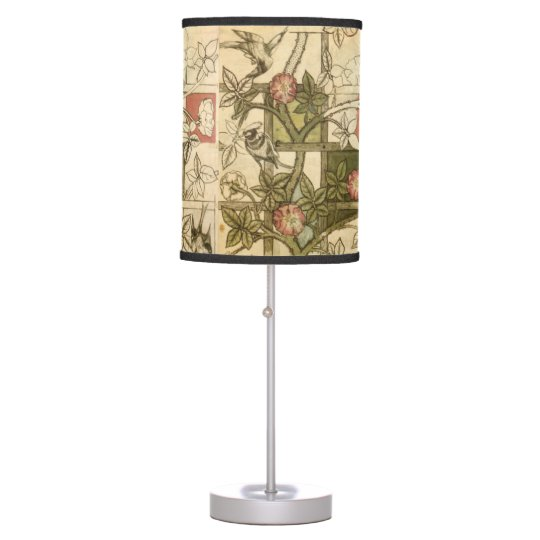 Lamp with Trellis design by William Morris