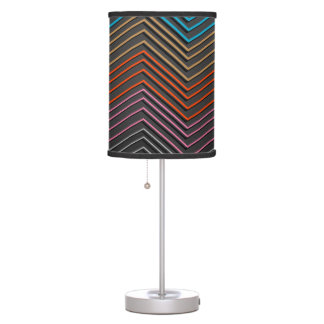 "Lamp with ""Zig Zag Stripes"" Design"