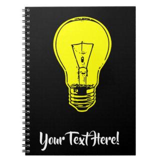 Lamp Yellow Notebook