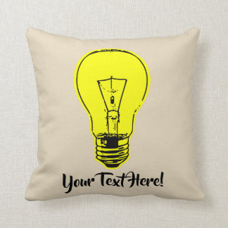 Lamp Yellow Throw Pillow