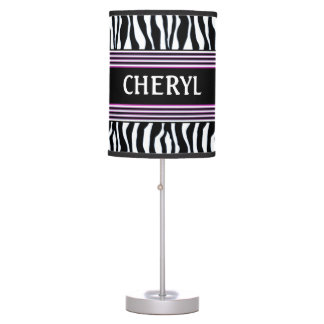 LAMP - ZEBRA - BLACK/WHITE/FUCHSIA - TEEN