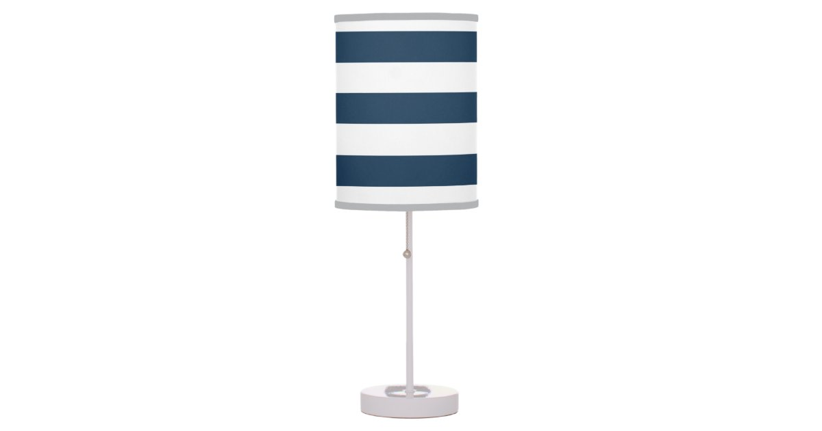 lampe audacieuse de bleu marine et blanche de rayu zazzle. Black Bedroom Furniture Sets. Home Design Ideas