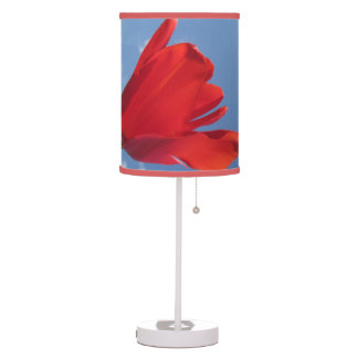 Lampe - ciel bleu de tulipe rouge