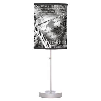 Lampe de décor de musique de piano de lampe de