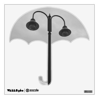 Lamppost Black & White Vintage Wall Decal
