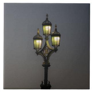 Lamppost ceramic photo tile