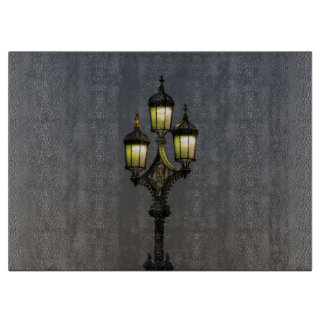 Lamppost glass boards